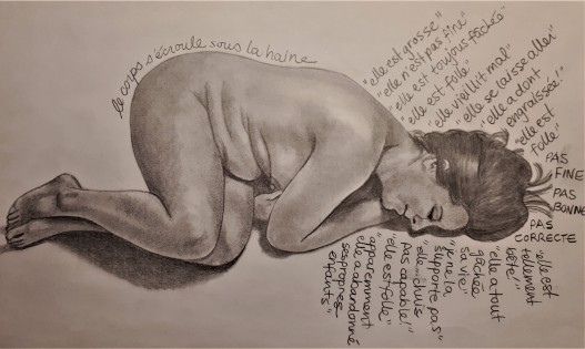 self-loathing, body image, body hate, art therapy