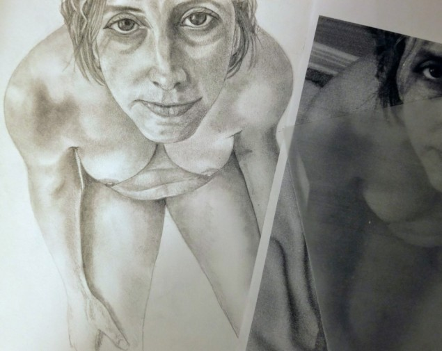 drawing of nude woman