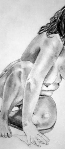 nude woman, self-portrait, body image
