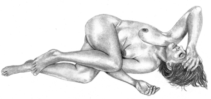 nude woman, body image