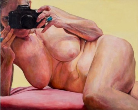 painting self-portrait nude woman Joan Semmel