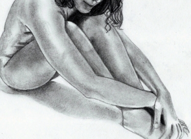 body image nude woman drawing