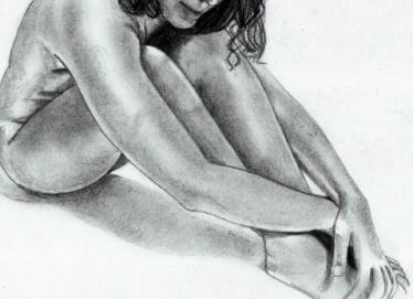 body image nude woman drawing