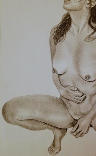 nude woman self-portrait body image